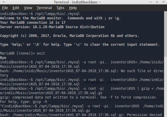 Backup & Restore Mysql Database LewatTerminal